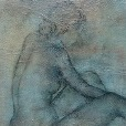 Primal essensce collection: Study in posture, Oil & Charcoal on canvas