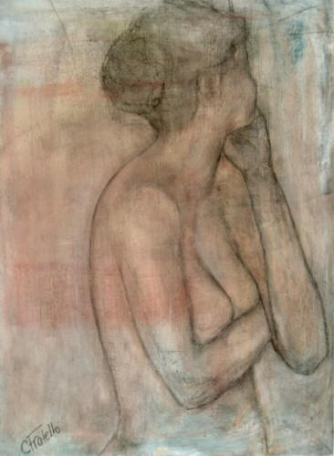 Anticipation Collection: study in posture, oil & charcoal